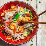 Shirataki de konjac con verduras